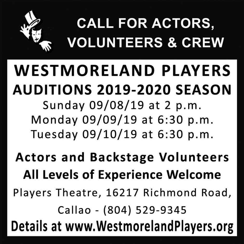 Auditions – Westmoreland Players